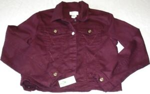 New with tag: Burgundy Jean Jacket, Horse embroidered on Back