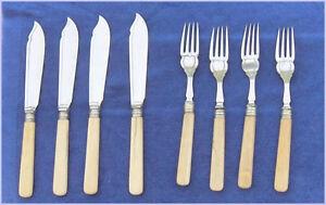 Set of 8 Vintage  Silverplated Fish Knives and Forks Belleville Belleville Area image 3