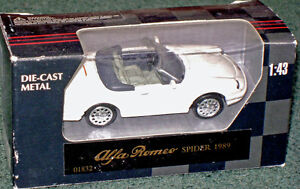 1989 Alfa Romeo Spider in 1/43 (o) scale, New-In-Box