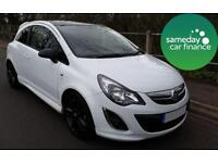 £139.41 PER MONTH WHITE 2013 VAUXHALL CORSA 1.2 LIMITED EDITION 3 DOOR PETROL