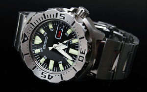 BRAND NEW Seiko Divers Automatic Black Monster SKX779 STEEL AUTHORIZED DEALER