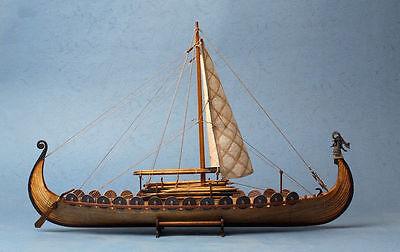 (Scale 1/50 Drakkar Dragon Viking Sailboat Unassembled Wooden Model Boat Ship Kit)