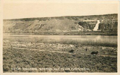 Andrews Waco 1920S Thousand Springs Power Plant Rppc Real Photo 5408