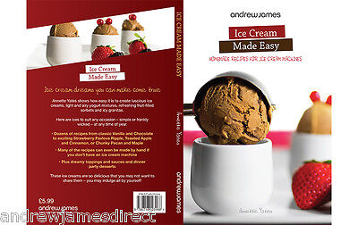 Ice Cream Sorbet Frozen Yoghurt Recipe Book for Homemade & Ice Cream Makers