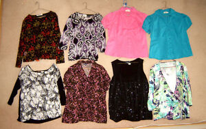 Tops (some new), New Spring Jacket, Dresses, etc, - sz 16, XL