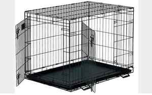 Large Training Double Door Pet Crate