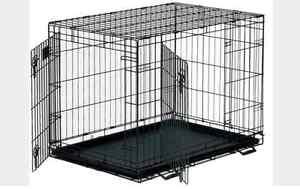 Large Training Double Door Pet Crate