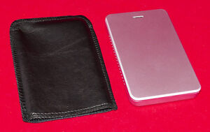 Solid State Hard Drive in External Enclosure + USB cable & Pouch