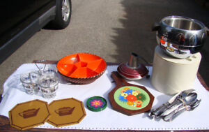 Lot of Vintage Mid Century Kitchen items