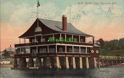 Postcard FR Yacht Club Tiverton RI Rhode Island