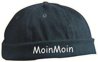 Chef Cap Mütze BESTICKT mit Moin Moin in vielen Stickfarben Kappe ohne Schild