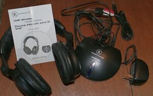 Wireless headphones set - used once - clean and complete