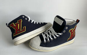 Louis Vuitton Navy LV High Top Sneakers Shoes Size 9 / 10 US