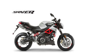 NEW 2018 LEFTOVER APRILIA SHIVER FINANCING FROM 1.99% SAVE HUGE!