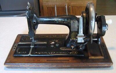 Kohler 1890's Hand Crank Sewing Machine NO. 1 Germany Hermann Kohler In Dome Box