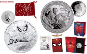Silver SPIDER-MAN Homecoming Coin & SPIDER-MAN Marvel BU Coin