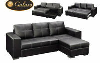 Liquidation bonded leather sectional bed