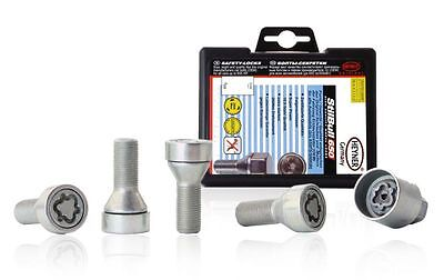 ALLOY WHEEL LOCKING BOLTS 43mm THREAD SILVER BIMECC M14X1.25 FOR BMW F07 F10 F11