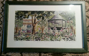 FRAMED WATERCOLOR KING SQUARE SAINT-JOHN NB West Island Greater Montréal image 1