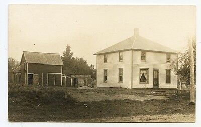 1911 Real Photo Postcard of Anna Walter's House in Spirit Lake, Iowa