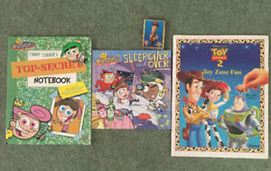 Fairly Oddparents Books (2) & Toy Story 2 Book
