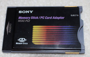 Used Sony MSAC-PC2 Memory / PC Card Adapter