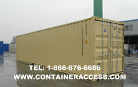 PORTABLE SHIPPING CONTAINER STORAGE