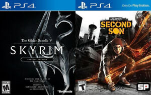 Selling/Trading PS4 Infamous Second Son, Skyrim Special Edition