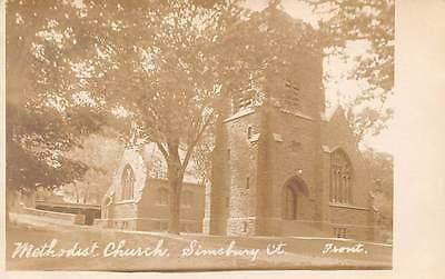 Simsbury  Ct   Methodist Church  Foote Real Photo Pc   C  1910 20