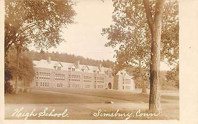 Simsbury  Ct   High School  Foote Real Photo Pc   C  1910 20