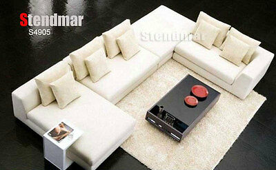 4PC NEW MODERN EURO DESIGN FABRIC SECTIONAL SOFA S4905