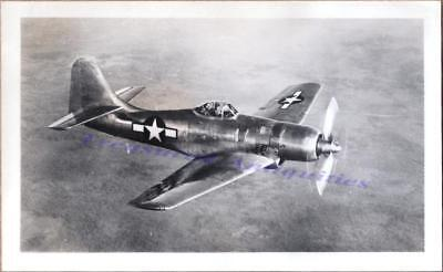 WWII US Navy Boeing XF8B-1 Prototype Fighter Airplane Flight Carrier Based Photo