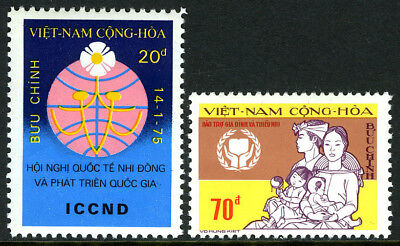 Viet Nam South 504-505, MNH. Symbol of Youth, Family, Emblem, 1975