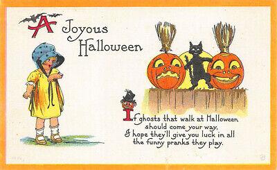 cht Gelb Gekleidet Junge Mädchen J-O-L Schwarze Katze (Halloween Gedichte)