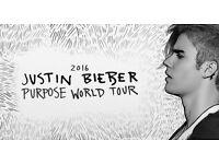 Justin Bieber Tickets x 2 MEN Arena Friday 21st October