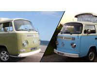 Successful Classic Volkswagen camper-van hire business for sale.