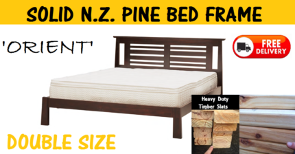 FREE DELIVERY Double Size Solid Timber Bed Frame - BRAND NEW