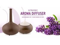 Vase Aroma Diffuser Humidifier with 7 LED Colours for Home, Office, Spa