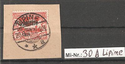 Oberschlesien Mi-Nr.: 30 sauber auf Brieftsück mit top Stempel Lipine