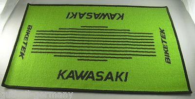 Kawasaki Türmatte Fussmatte Schmutzmatte Fussmatte Teppich door-mat Motorrad