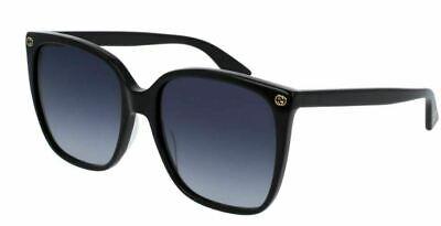 Authentic Gucci GG 0022 S 001 Black Gradient Sunglasses