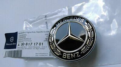 US Black FOR Mercedes-Benz Star Flat Hood Bonnet Logo Emblem Badge C300 C63