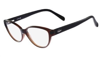NEW ORIGINAL LACOSTE L2764 210 Brown Women's CatEye Eyeglasses 53mm 15 135 ITALY