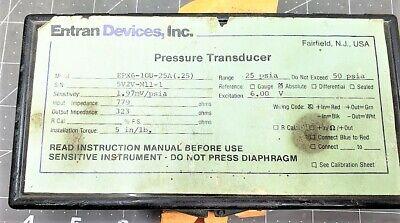 Entran Devices Ep Pressure Transducer 25 Psis Range A9b2