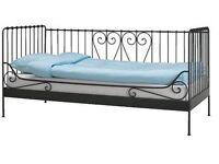 IKEA black metal day bed frame