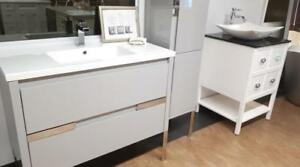 AMAZING VANITY ON SALE / BATHROOM GALLERY - FLOOR MODEL CABINETS - SOLID WOOD