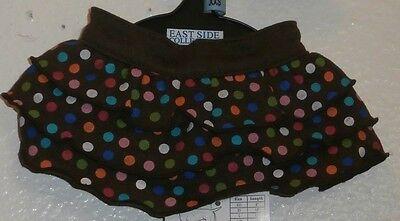 East Side Collection Size XX Small Polka Dot Ruffle Shirt Brown Brand name  East Side Collection Polka Dot