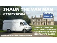 SHAUN THE VAN MAN - HOUSE REMOVALS TO SINGLE ITEMS - SOFAS - FURNITURE ETC - FIFE BASED