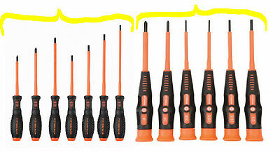 13pc Color Coded Electricians 1000v Insulated Screwdriver Set Gsvde Certified