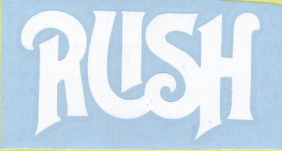 RUSH FIRST ALBUM LOGO PEEL AND RUB ON WHITE VINYL DECAL !